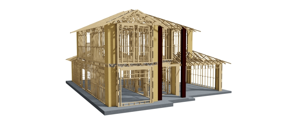 Three dimensional graphic model used for truss and timber designs